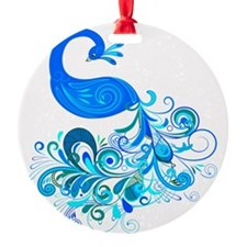 Decorative Peacock ~ Blue Ornament