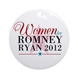 Women for Romney Ryan 2012, Pink/Blue Ornament (Ro