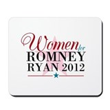 Women for Romney Ryan 2012, Pink/Blue Mousepad