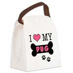 dogboneILOVEMY.png Canvas Lunch Bag