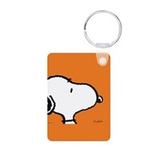 Fresh Orange Aluminum Photo Keychain