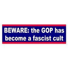 fascist cult... Bumper Bumper Sticker