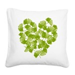 ginkgo-heart_tr.png Square Canvas Pillow