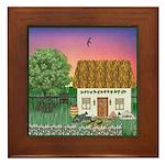 Sunrise Cottage Version 2 Framed Tile