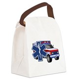 EMS Ambulance Canvas Lunch Bag