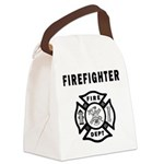 Firefighter Canvas Lunch Bag