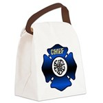 Fire Chief Gold Maltese Cross Canvas Lunch Bag
