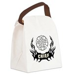 Fire Chief Tattoo Canvas Lunch Bag