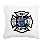 Firefighter Recycle Square Canvas Pillow