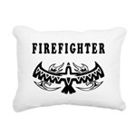 Firefighter Eagle Tattoo Rectangular Canvas Pillow