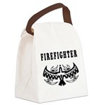 Firefighter Eagle Tattoo Canvas Lunch Bag