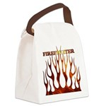 3-tribal ff black enlarged.jpg Canvas Lunch Bag
