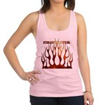 3-tribal ff black enlarged.jpg Racerback Tank Top