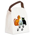 KIttys At Play Canvas Lunch Bag