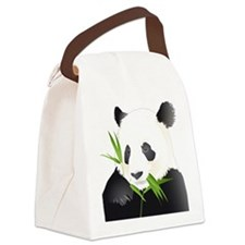 Panda Bear Canvas Lunch Bag