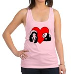 Panda Bear Love Racerback Tank Top