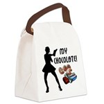 my chocolate redone.png Canvas Lunch Bag