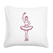 ballet-positions_tr4.png Square Canvas Pillow