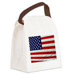 American Flag - doubled.jpg Canvas Lunch Bag