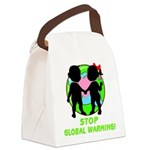 global warning kids redone.png Canvas Lunch Bag