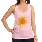 Elegant Sunflower Racerback Tank Top