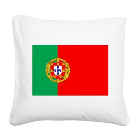portuguese_flag.gif Square Canvas Pillow