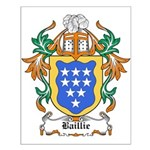 Baillie Coat of Arms Small Poster