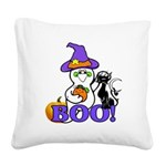 Halloween Ghost Square Canvas Pillow