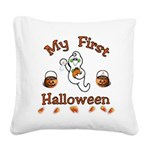 Baby's First Halloween Square Canvas Pillow