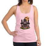 Halloween Haunted House Ghosts Racerback Tank Top