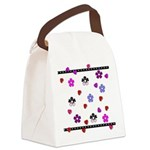Hearts and Flowers.jpg Canvas Lunch Bag