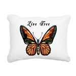 Butterfly Live Free Rectangular Canvas Pillow