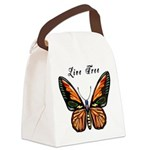 Butterfly Live Free Canvas Lunch Bag