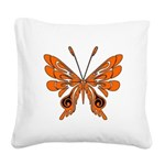butterfly high.png Square Canvas Pillow