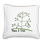 Plant A Tree Square Canvas Pillow