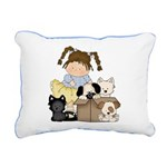 Puppy Dog Friends Rectangular Canvas Pillow
