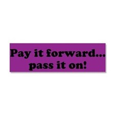 Pay it forward car magnet- purple