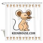 Keen Mouse Mascot Shower Curtain