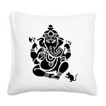 Ganesha Square Canvas Pillow