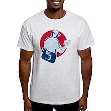 mailman postman deliver mail envelope retro T-Shirt