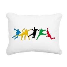 Handball Rectangular Canvas Pillow