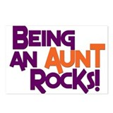 Being an Aunt Rocks! Postcards (Package of 8)