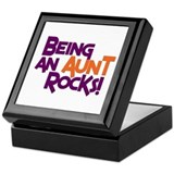 Being an Aunt Rocks! Keepsake Box