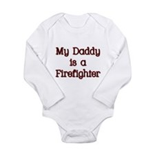 Unique My daddy is is my hero Long Sleeve Infant Bodysuit