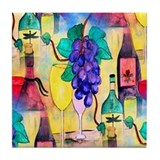 The Grape Escape Tile Coaster