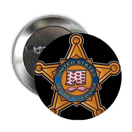 "Secret Service Badge 2.25"" Button"