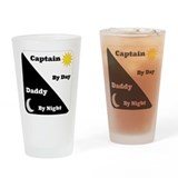 Captain by day Daddy by night Drinking Glass