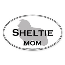 Sheltie MOM Oval Bumper Stickers
