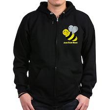 Cute Bumble Bee Zip Hoodie