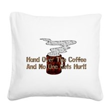 humor_coffee01.png Square Canvas Pillow